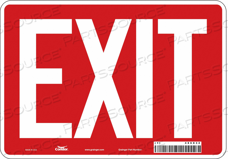 SAFETY SIGN EXIT 7 X10 by Condor