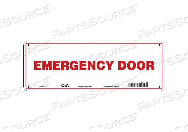 SAFETY SIGN 5 X14 PLASTIC by Condor