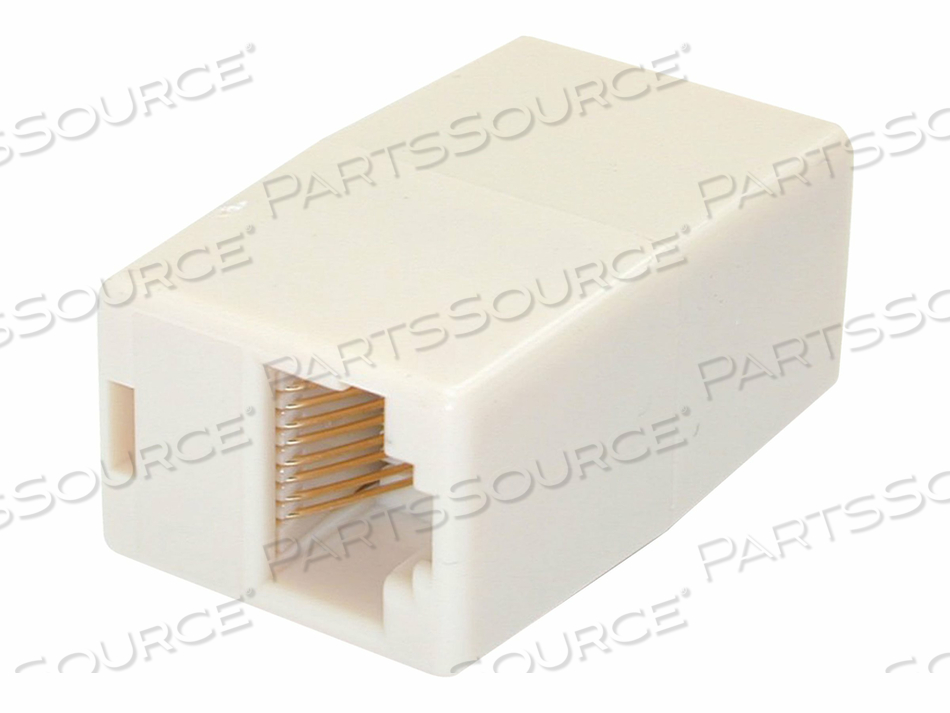 STARTECH.COM CAT5E RJ45 MODULAR INLINE COUPLER - NETWORK COUPLER - RJ-45 (F) TO RJ-45 (F) - CAT 5E - BEIGE ( PACK OF 10 ) by StarTech.com Ltd.