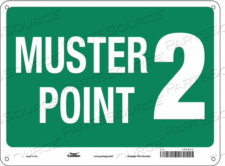 SAFETY SIGN 24 WX18 H 0.032 THICK by Condor