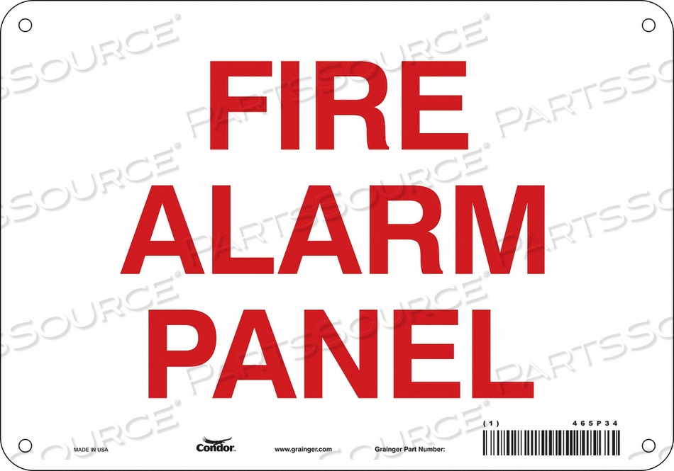 SAFETY SIGN 10 W X 7 H 0.055 THICKNESS by Condor