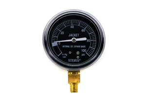 PRESSURE GAUGE, 1/8 IN MPT, 2.5 IN DIAL DIA, 0 TO 100 PSI by STERIS Corporation
