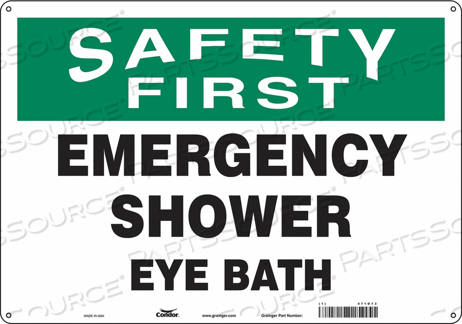 SAFETY SIGN 20 W X 14 H 0.032 THICK by Condor