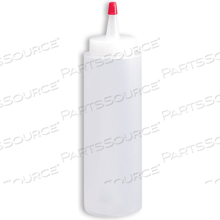 CYLINDER BOTTLE WITH APPLICATOR TIP, EMBOSSED SCALE, MDPE, 8 OZ. by Tolco