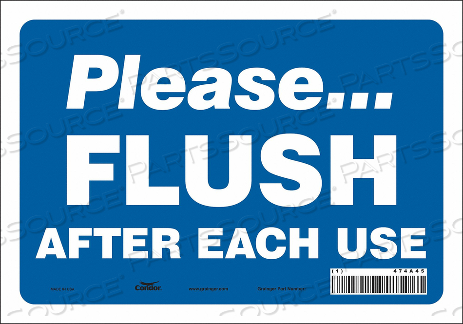 RESTROOM SIGN 10 W 7 H 0.004 THICK by Condor
