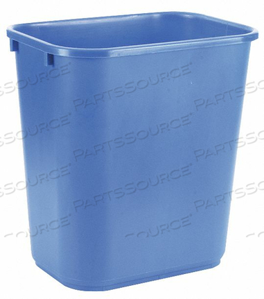 DESK RECYCLING CONTAINER BLUE 7 GAL. by Tough Guy