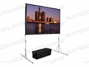 DA-LITE FAST-FOLD DELUXE SCREEN SYSTEM HDTV FORMAT - PROJECTION SCREEN WITH HEAVY DUTY LEGS - 120 IN (120.1 IN) - DA-MAT
