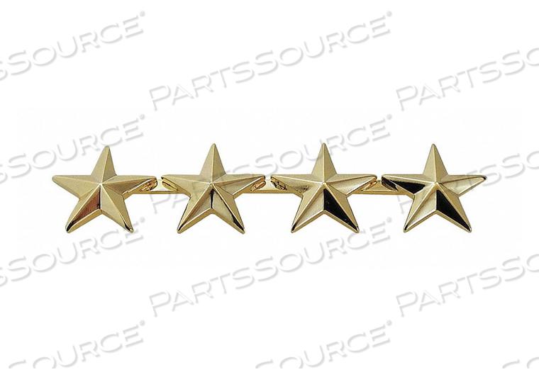 METAL RNKINSIGNIA FOUR 5/8 STARS GOLD PR by Heros Pride