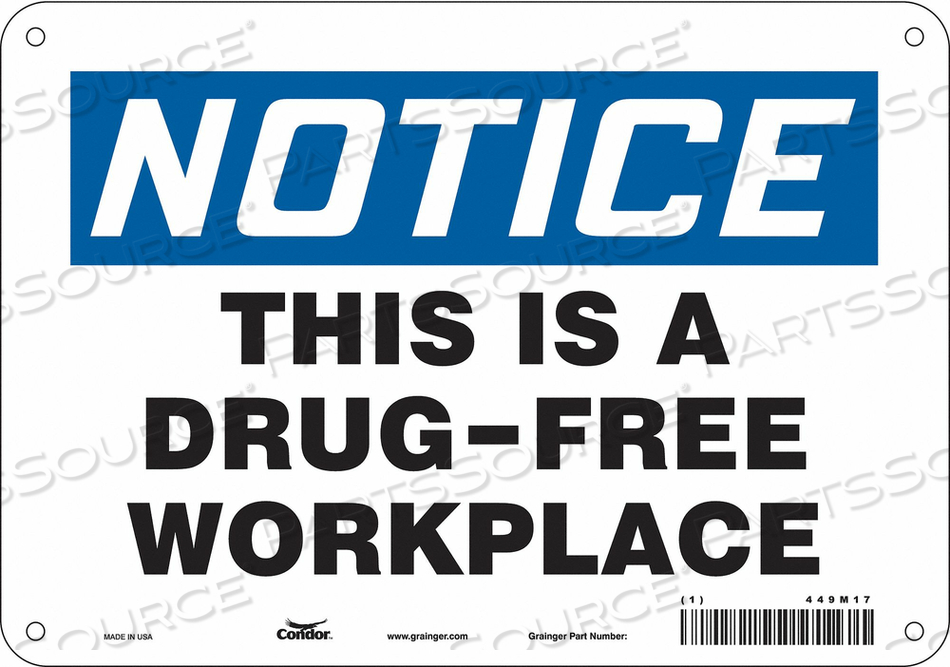 SAFETY SIGN 7 H X 10 W 0.032 THICK by Condor