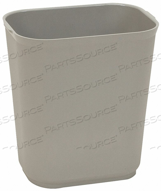 D2118 FIRE-RSTNT TRASH CAN RECTNGLE 7 GAL GRAY by Tough Guy
