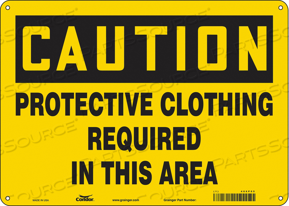 SAFETY SIGN 10 H 10 W FIBERGLASS by Condor