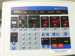INJECTOR CONTROLLER DISPLAY OVERLAY by Bayer Healthcare LLC