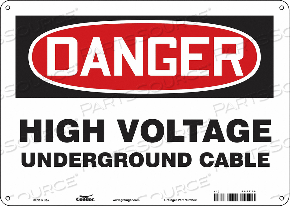 ELECTRICAL SIGN 14 W 10 H 0.055 THICK by Condor