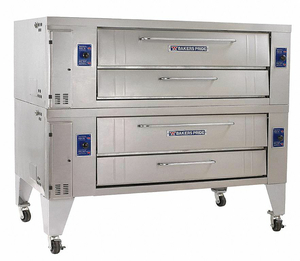 GAS DECK OVEN DOUBLE BRICK LINE by Bakers Pride
