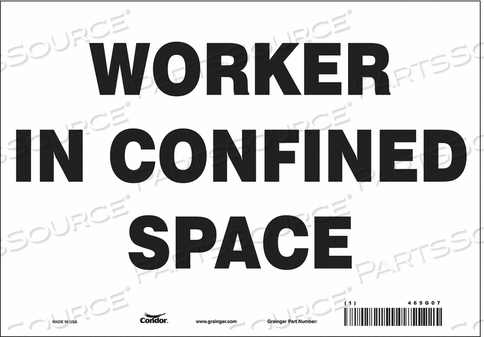 SAFETY SIGN 7 H 10 W VINYL by Condor