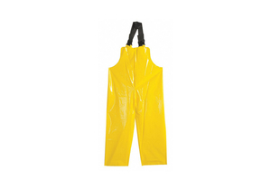 G3214 RAIN BIB OVERALL UNRATED YELLOW L by Polyco