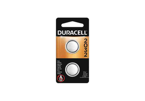 BATTERY, COIN CELL, 2032, LITHIUM, 3V, 210 MAH (PACK OF 2) by Duracell