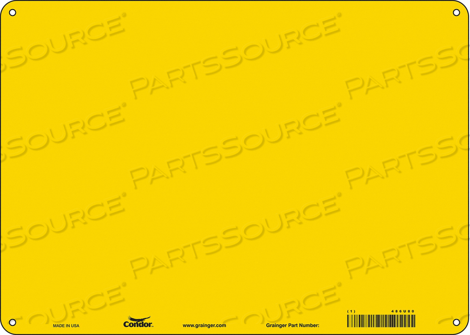 SAFETY SIGN 14 W 10 H 0.550 THICK PK10 by Condor