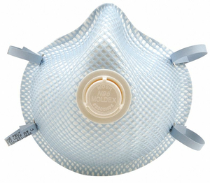 DISPOSABLE RESPIRATOR M/L N95 MOLDED PK2 by Moldex