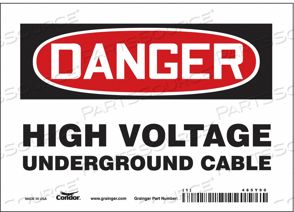 ELECTRICAL SIGN 7 W 5 H 0.004 THICKNESS by Condor