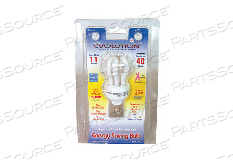 SCREW-IN CFL NON-DIMMABLE 2700K 11W by Aero-Tech