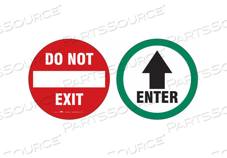 EXIT SIGN DO NOT EXIT/ENTER 6 DBL SIDED by Condor