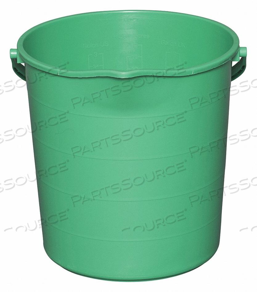 J4755 PAIL 3 GAL. POLYPROPYLENE 12-1/2 L GREEN by Tough Guy