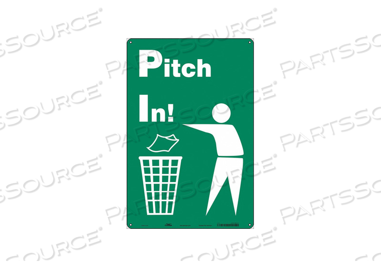 SAFETY SIGN 12 WX18 H 0.055 THICK by Condor