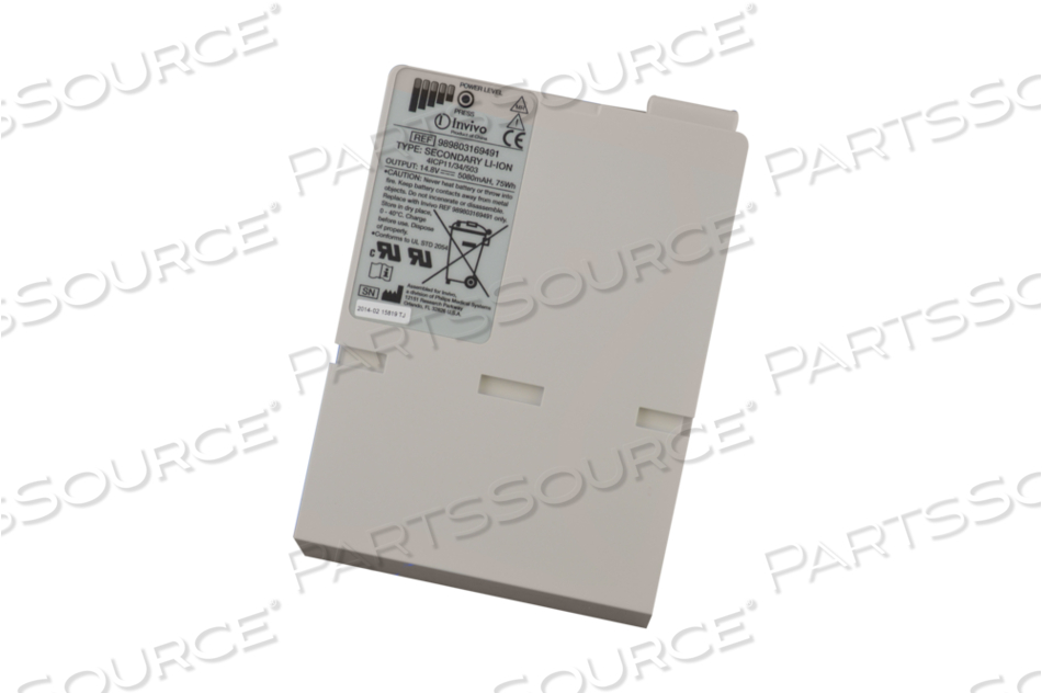 14.8V 5.08AH LI-ION OEM NEW BATTERY FOR INVIVO PRECESS MRI MONITOR by Philips Healthcare (Medical Supplies)