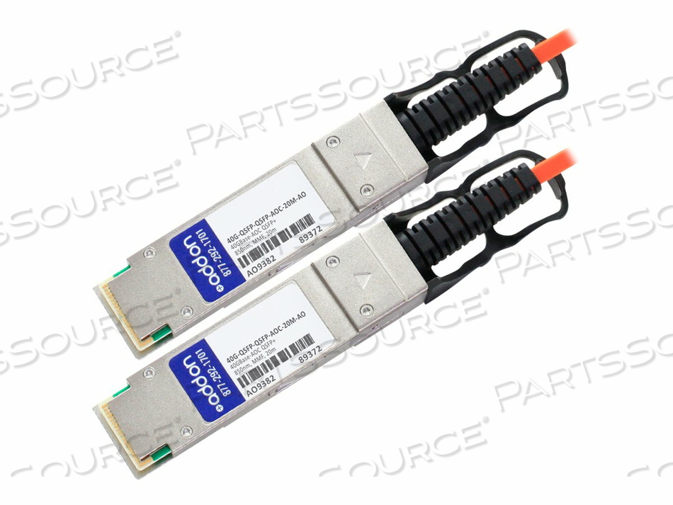 ADDON - 40GBASE-AOC DIRECT ATTACH CABLE - QSFP+ (P) TO QSFP+ (P) - 20 M - FIBER OPTIC - ACTIVE - TAA COMPLIANT