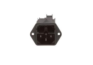 50HZ C14 MALE APPLIANCE INLET POWER ENTRY MODULE - BLACK by Schurter