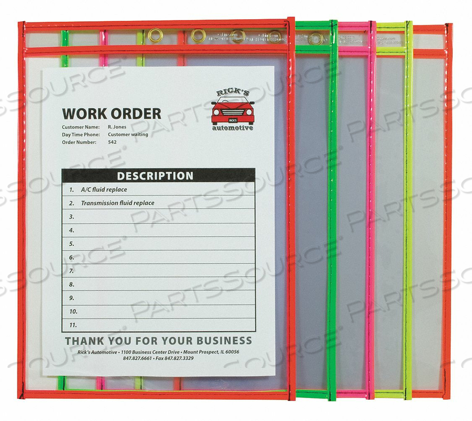 HOLDER SHOP TICKET NEON 9X12 CLEAR PK10 by C-Line