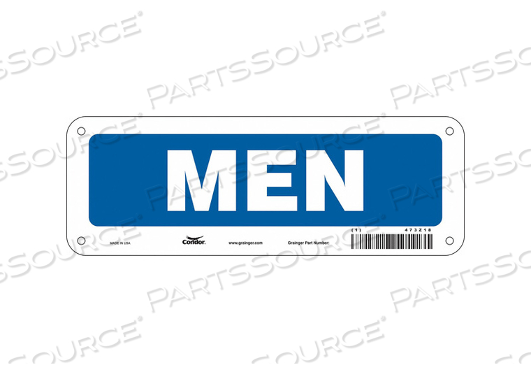 RESTROOM SIGN 10 W 3-1/2 H 0.055 THICK by Condor
