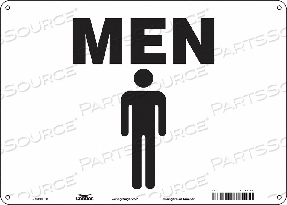 RESTROOM SIGN 14 W 10 H 0.055 THICK by Condor