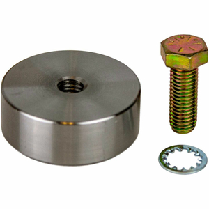MEGA SWIVEL WELD-ON PUCK, STEEL, WITH BOLT & WASHER, STEEL, 130-420 LBS. CAPACITY by Guardian Fall Protection