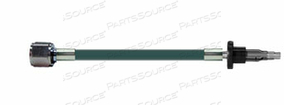 CONDUCTIVE HOSE ASSEMBLY, 1/4 IN OD, OXYGEN, GREEN, DISS HEX NUT X MALE CONNECTION, 13 FT by Amvex (Ohio Medical, LLC)