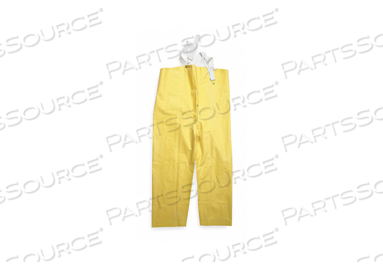 D2314 RAIN BIB OVERALL UNRATED YELLOW 4XL by Condor