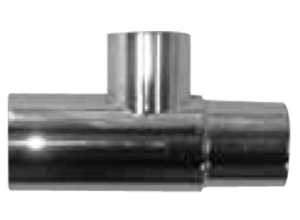 """ADAPTER, TEE, 22MMF X 22MMM/15MMF X 1/4"""" FPT, CHROME BRASS by Anesthesia Associates"""