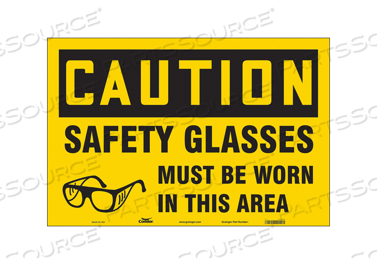 SAFETY SIGN 36 W 24 H 0.004 THICKNESS by Condor
