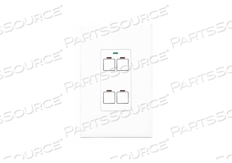 DIGITAL WALL SWITCH WHITE 4 BUTTON by Lithonia Lighting