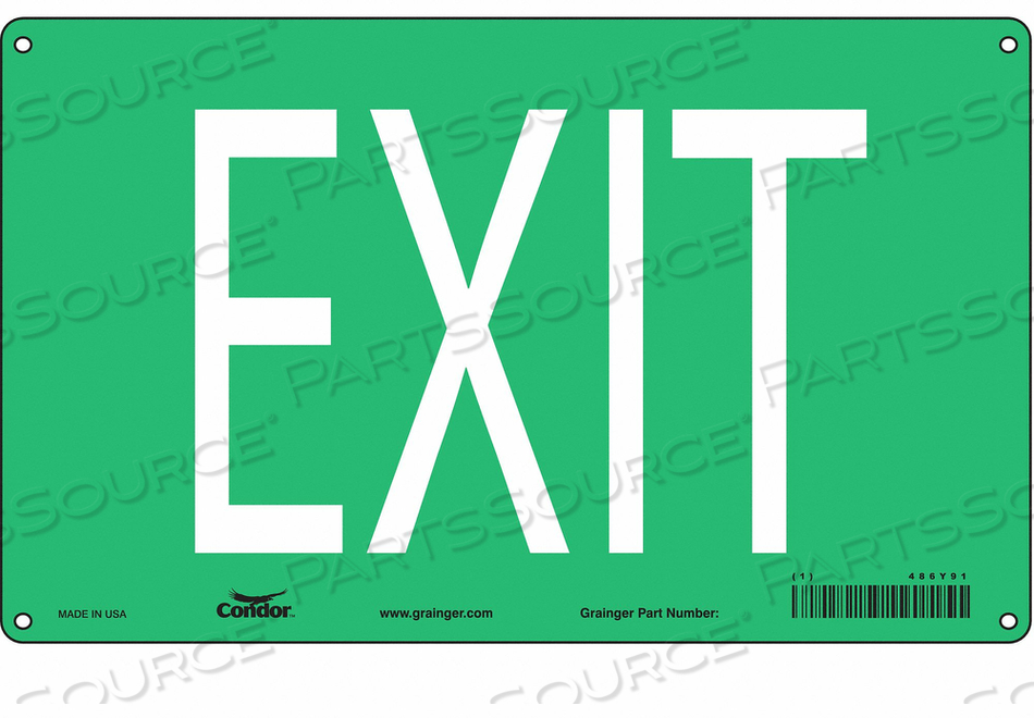 SAFETY SIGN EXIT 7-3/8 X12 by Condor