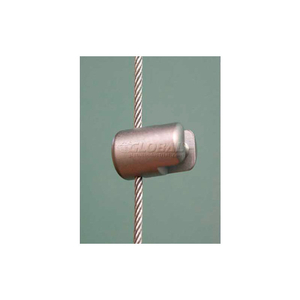 """VERTICAL SUPPORT SINGLE FOR 1.5MM CABLES, 19/32""""L, SATIN CHROME by Nova Display, Inc"""