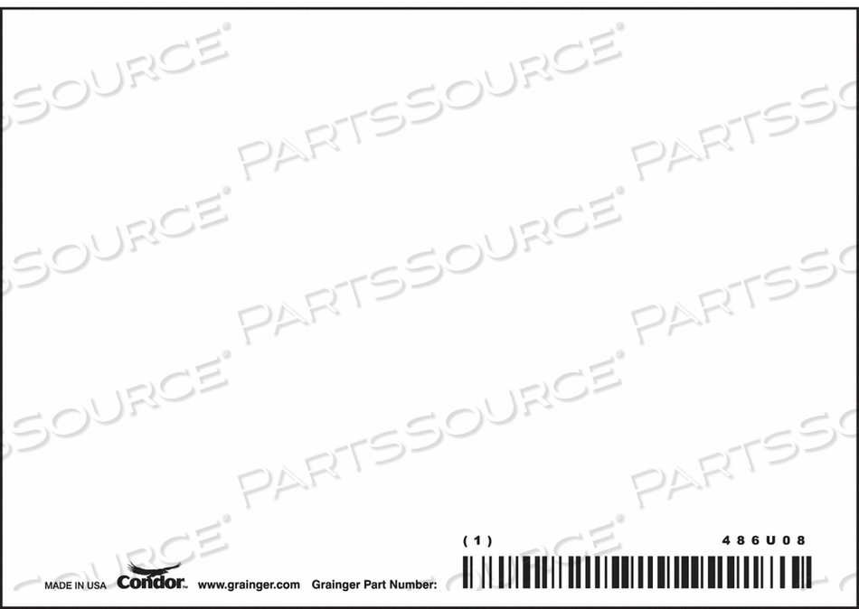 SAFETY SIGN 5 W 3-1/2 H 0.032 THICKNESS by Condor