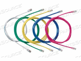 PANDUIT NETKEY - PATCH CABLE - RJ-45 (M) TO RJ-45 (M) - 6.6 FT - UTP - CAT 5E - SNAGLESS, STRANDED - YELLOW by Panduit