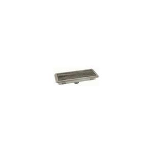 FLOOR TROUGH, 72L X 24W X 4H, FIBERGLASS GRATE SINGLE DRAIN by Advance Tabco