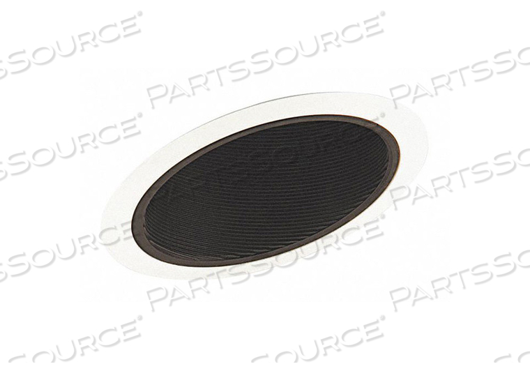 SLOPED RECESSED TRIM 6IN BLACK BAFFLE by Juno Lighting Group