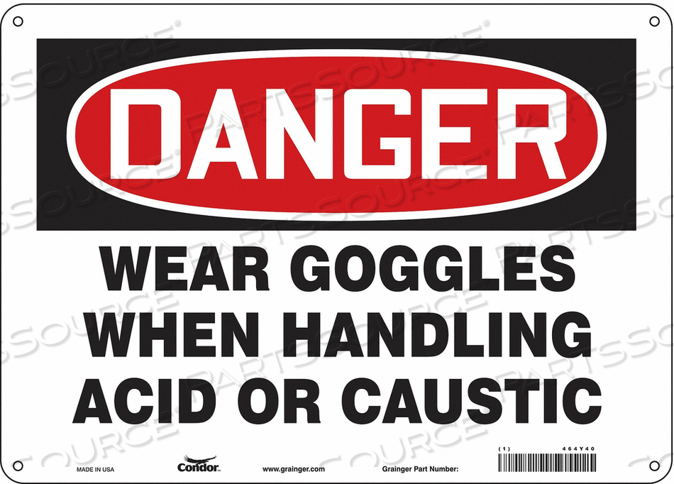 SAFETY SIGN 14 W 10 H 0.060 THICKNESS by Condor