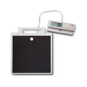 FLAT SCALE WITH CABLE REMOTE DISPLAY, 550 LB/250 KG, LCD DISPLAY by Seca Corp.