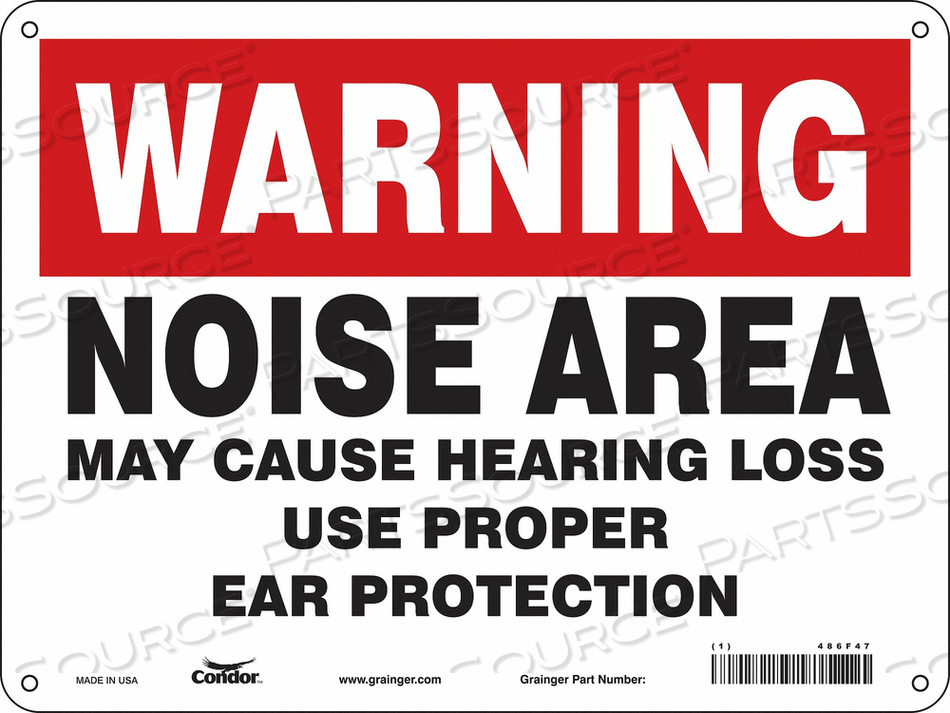 SAFETY SIGN 12 W 9 H 0.055 THICKNESS by Condor