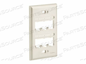 PANDUIT MINI-COM ULTIMATE ID CLASSIC SERIES FACEPLATE - FACEPLATE - INTERNATIONAL GRAY - 1-GANG - 6 PORTS by Panduit